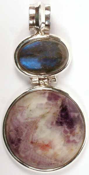 Sugilite & Labradorite Pendant