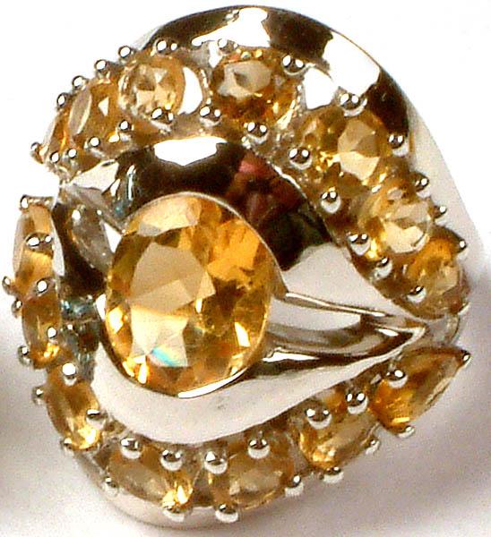Superfine Cut Citrine Ring