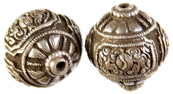 Superfine Handcarved Buddhist Symbols Beads (Price Per Piece) - Made in Nepal