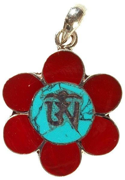 Tibetan Om (AUM) Inlay Pendant