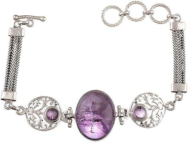 Triple Amethyst Bracelet