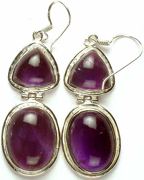 Twin Amethyst Earrings