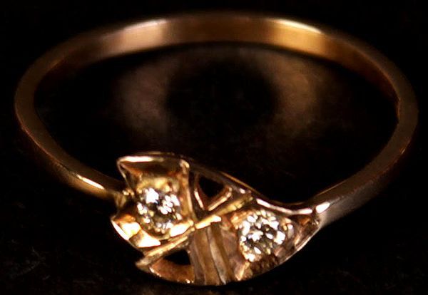 Twin Diamond Ring