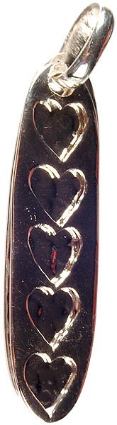 Twin Sterling Pendants with Valentine
