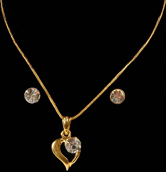 Valentine Necklace with Earrings