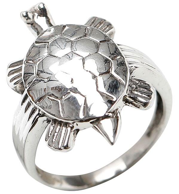Tortoise Silver Vastu Ring