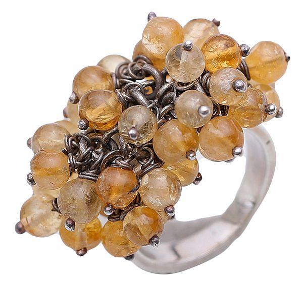 Citrine Gypsy Ring