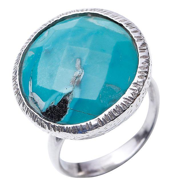 Circular Turquoise Ring
