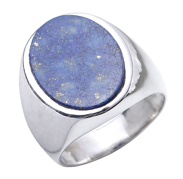 Lapis lazuli Oval Finger Ring