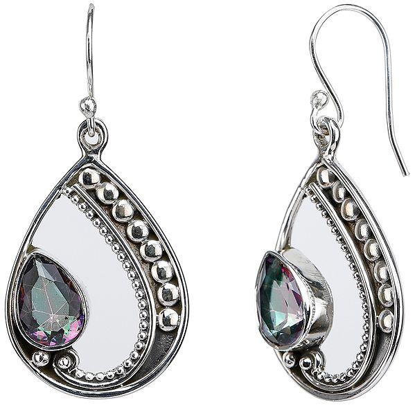 Faceted Mystic Topaz Earrings