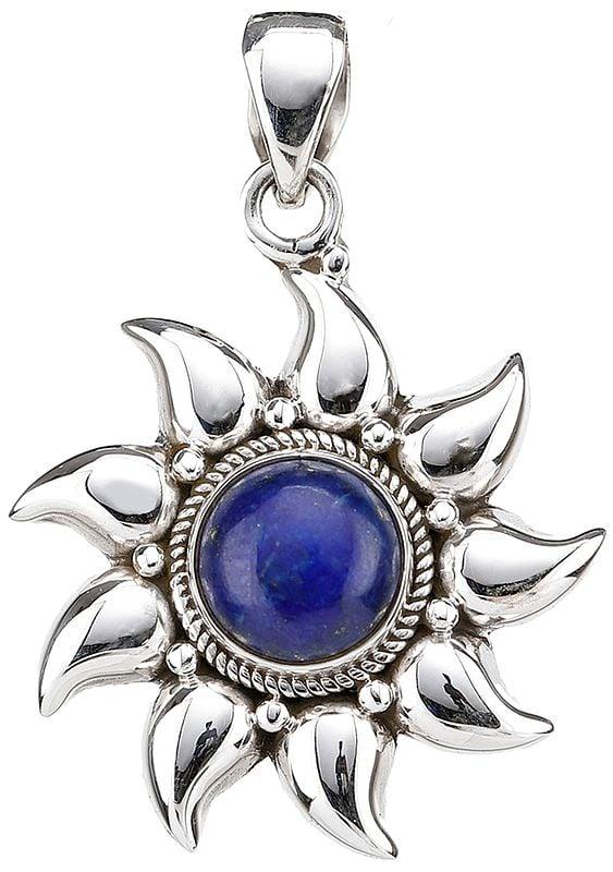 Lapis Lazuli Sun Pendant