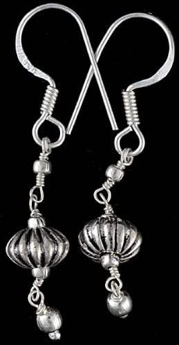 Sterling Beaded Earrings - Sterling Silver