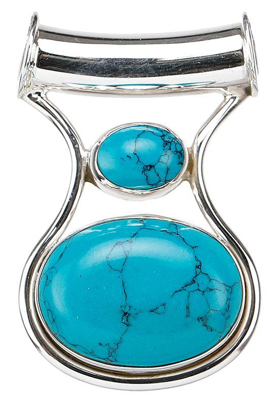 Reconstituted Turquoise Pendant