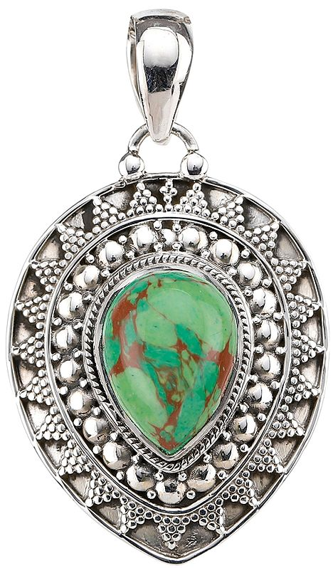 Green Mohave Turquoise Pendant
