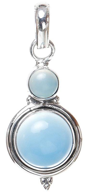 Blue Chalcedony Pendant