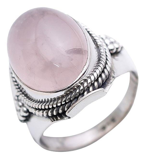 Rose Quartz Oval Ring