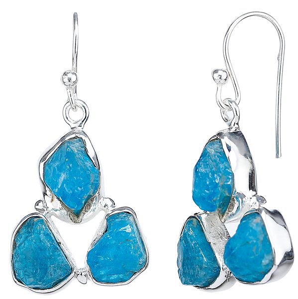 Rugged Aquamarine Earrings