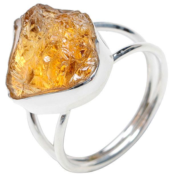Rugged Citrine Ring