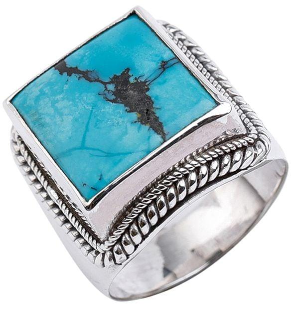 Big Square Turquoise Ring
