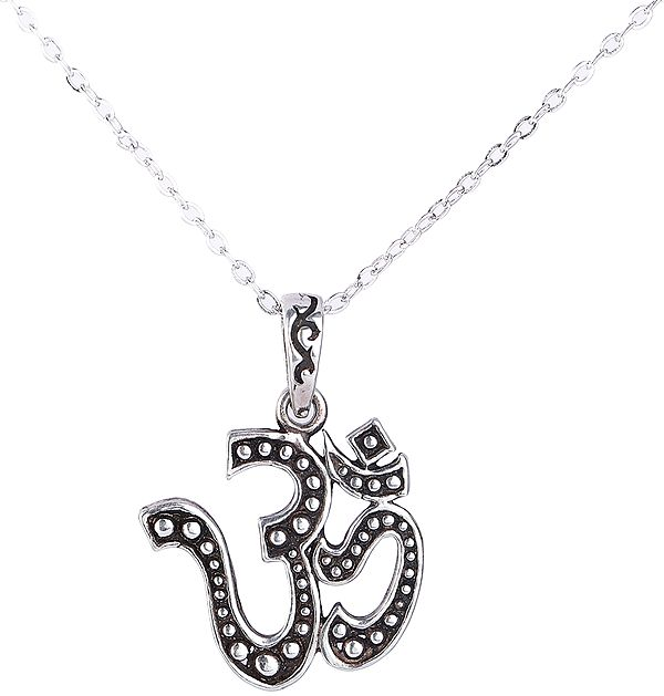 Sterling Silver Om Pendant from Nepal