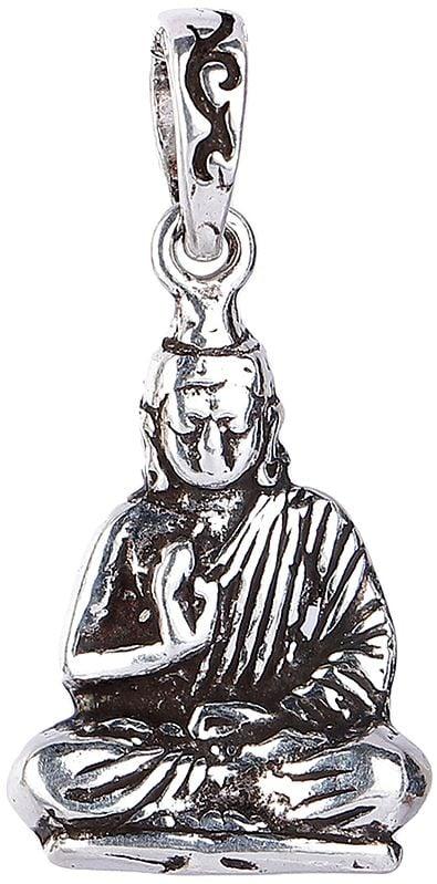 Preaching Buddha Sterling Silver Pendant