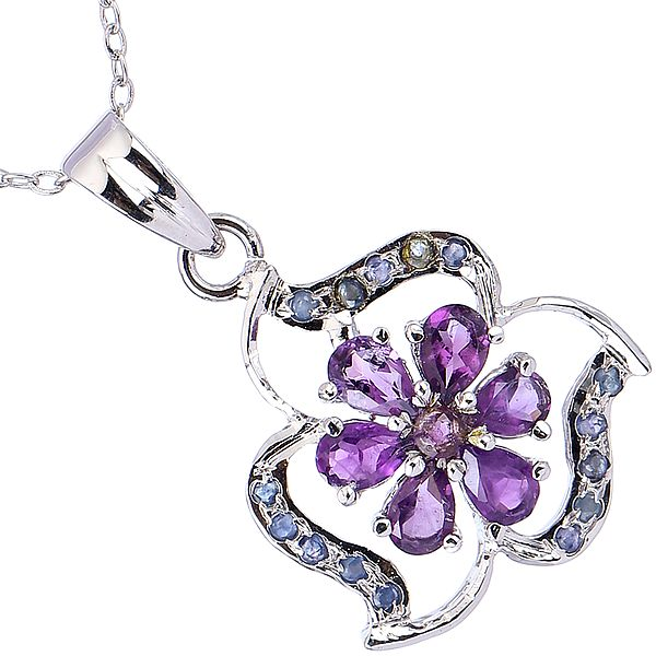 Sterling Silver Floral Pendant