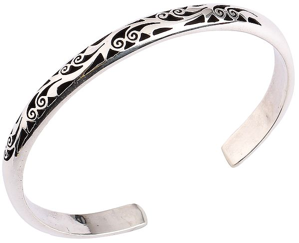 Grapevine Design Cuff Bracelet from Nepal (Adjustable Size)