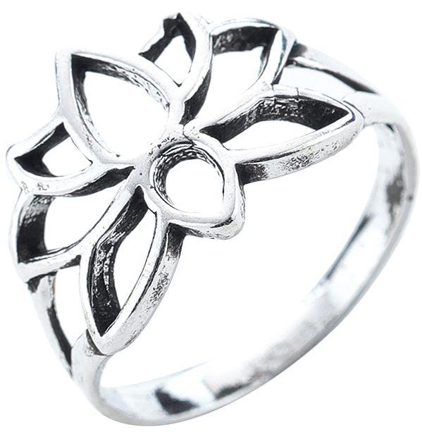 Lotus Sterling Silver Ring