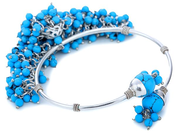 Reconstituted Turquoise Sterling Silver Bracelet
