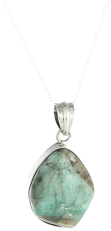 Sterling Silver Pendant with Turquoise Gemstone