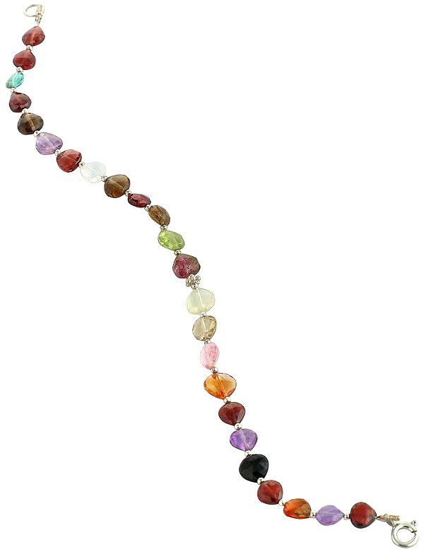Vibrant Multi-Gemstone Beads Bracelet