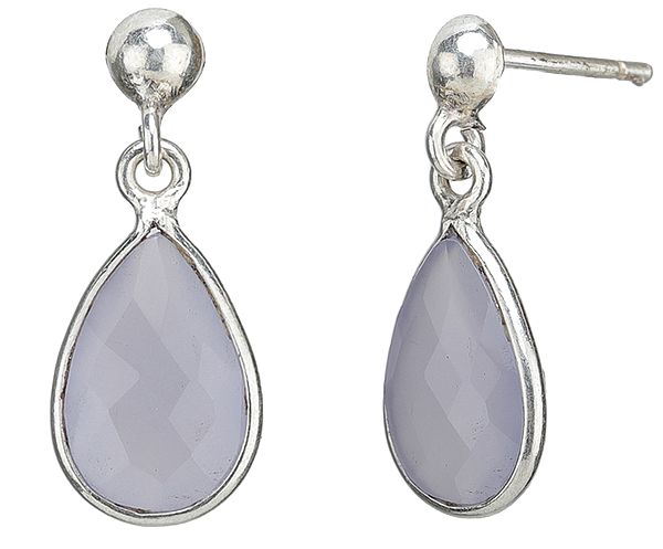 Fine Cut Rose Quartz Earrings - Sterling Silver