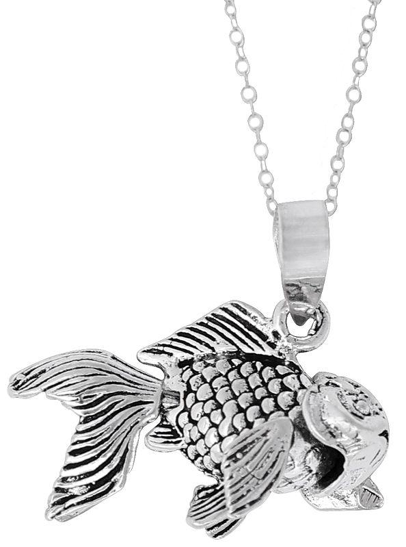 Small Fish Sterling Silver Pendant