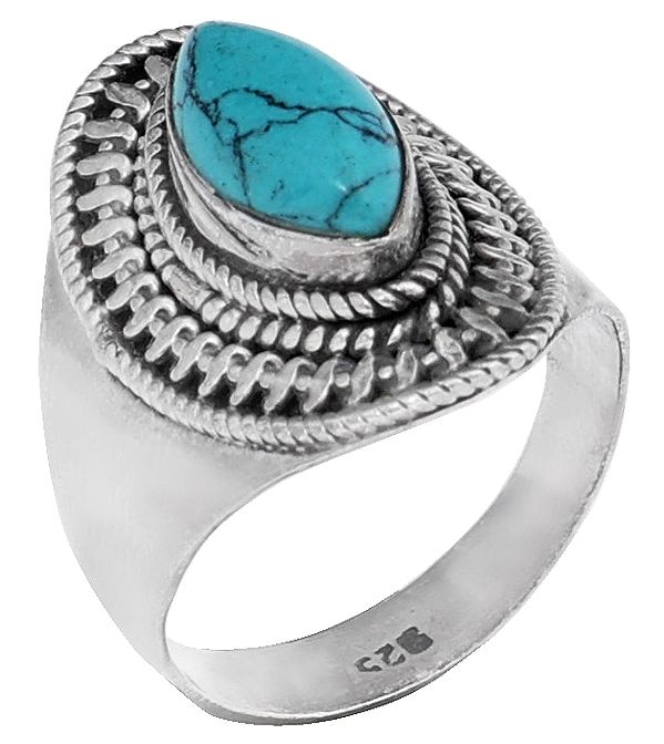 Small Turquoise Sterling Silver Ring