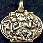 Hanumana Dye Stamped Amulet