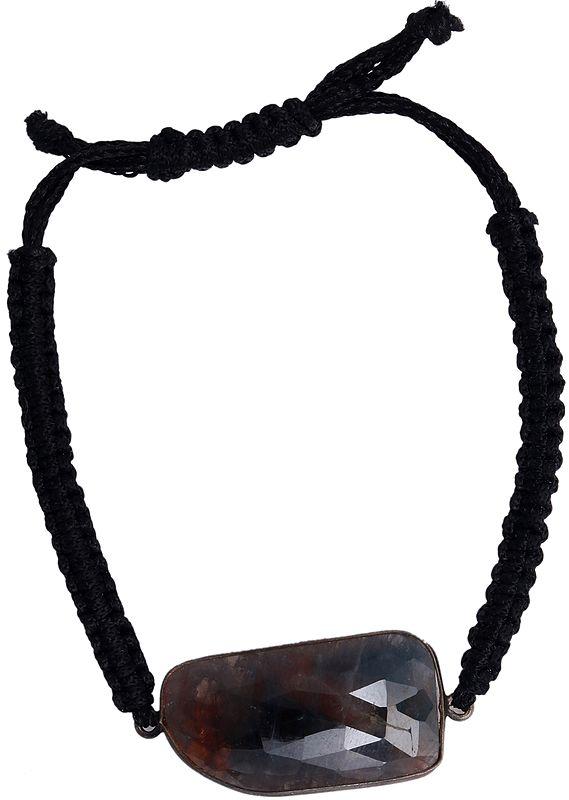 Faceted Labradorite Cord Bracelet