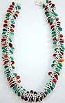 Tri-Color Bezel Necklace