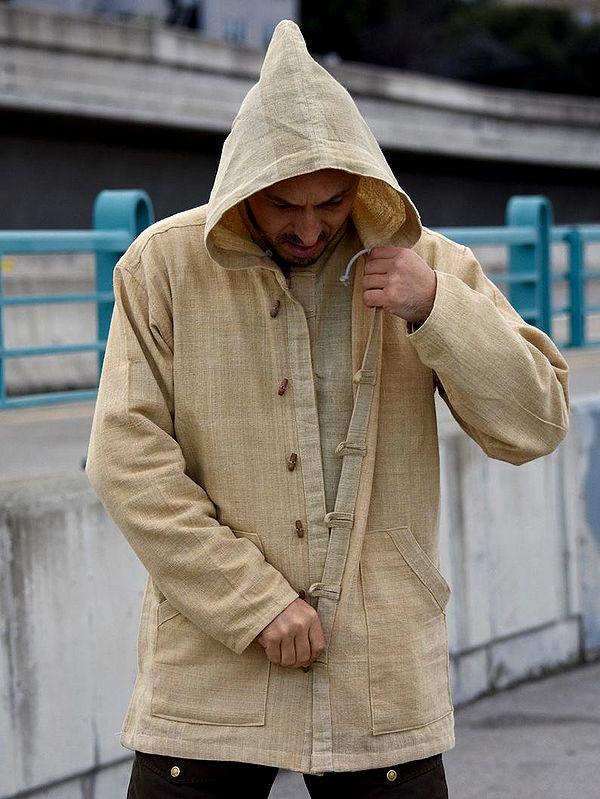 Hemp Jacket | 100% Hemp Hoodie | Hemp Mens | Hemp Clothing | Hemp Shirt | Hemp Long Sleeve By DressforEarth