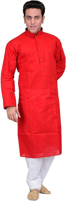 Solid Plain Kurta Pajama Set