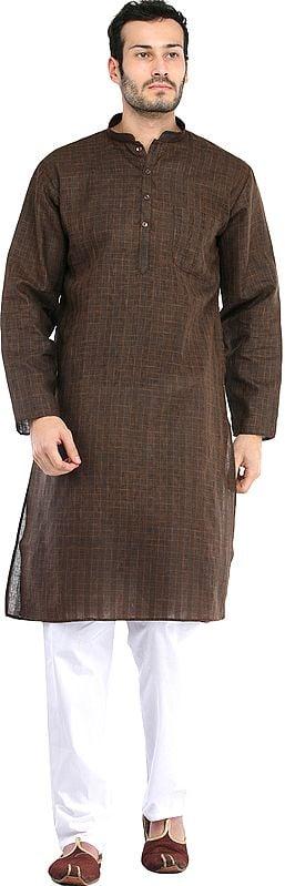 Kurta Pajama with Woven Checks