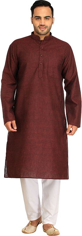 Casual Kurta Pajama Set with Thread Weave