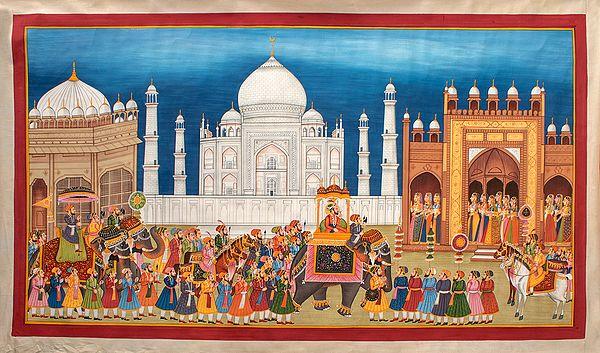 Procession Afore The Taj Mahal