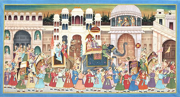 Victory Procession Against the Udaipur Fort