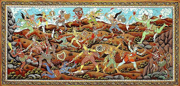 An Episode from Devi Mahatmya (Matrikas Fighting against Demons