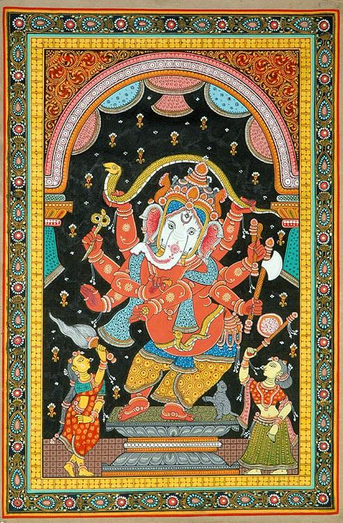 Ashtabhuja-dhari Nrittya Ganesha