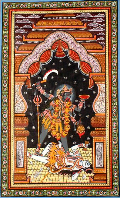 Black and Beautiful Kali Ma with Her Husband Shiva
