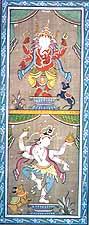 Dancing Ganesha and Shiva