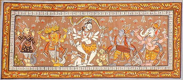 Dancing Shiva and a Celestial Audience