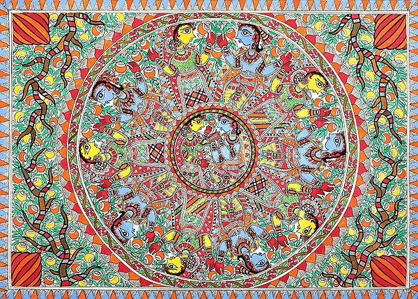 Radha-Krishna In Their Togetherness