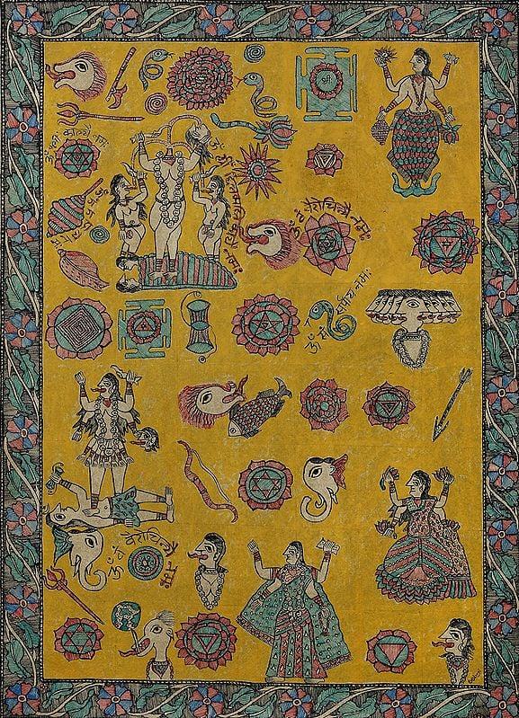 Diagram Representing Tantric Goddesses
